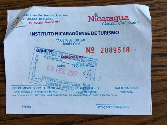 international travel, visa, Nicaragua, tips