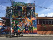 murals, street art, Jinotega, Beatles, E.T., atlantic city